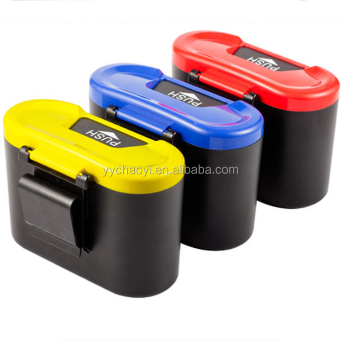 Mini Home Auto Car Plastic Trash Rubbish Can Garbage Dust Case Holder Box Bin