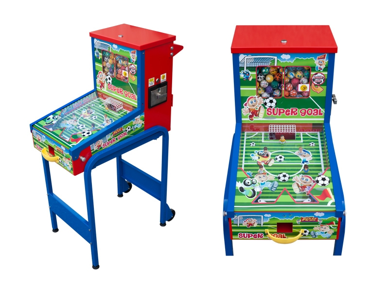 Children Professional Coin Operated Pinball machine Equipped With Two Wheels