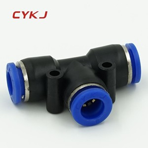 pneumatic plastic fitting Tee 16mm 14mm 12mm 10mm 8mm 6mm 4mm