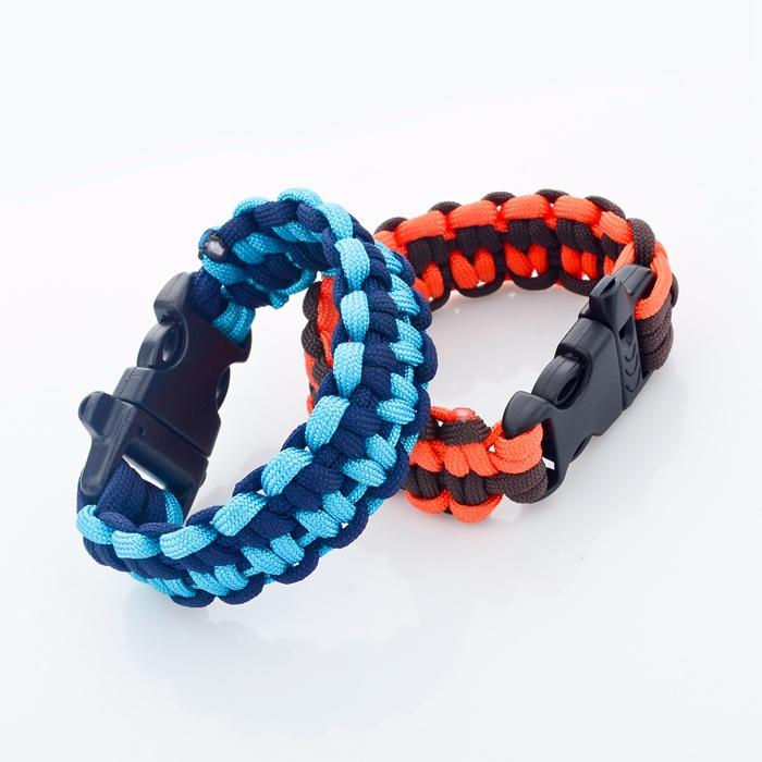 67be7af688d3 De moda trenzado pulsera tejida paracod sobrevivir pulsera patrones para  los hombres