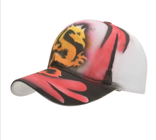 Hand-gedrukt China dragon animal stijl baseball caps