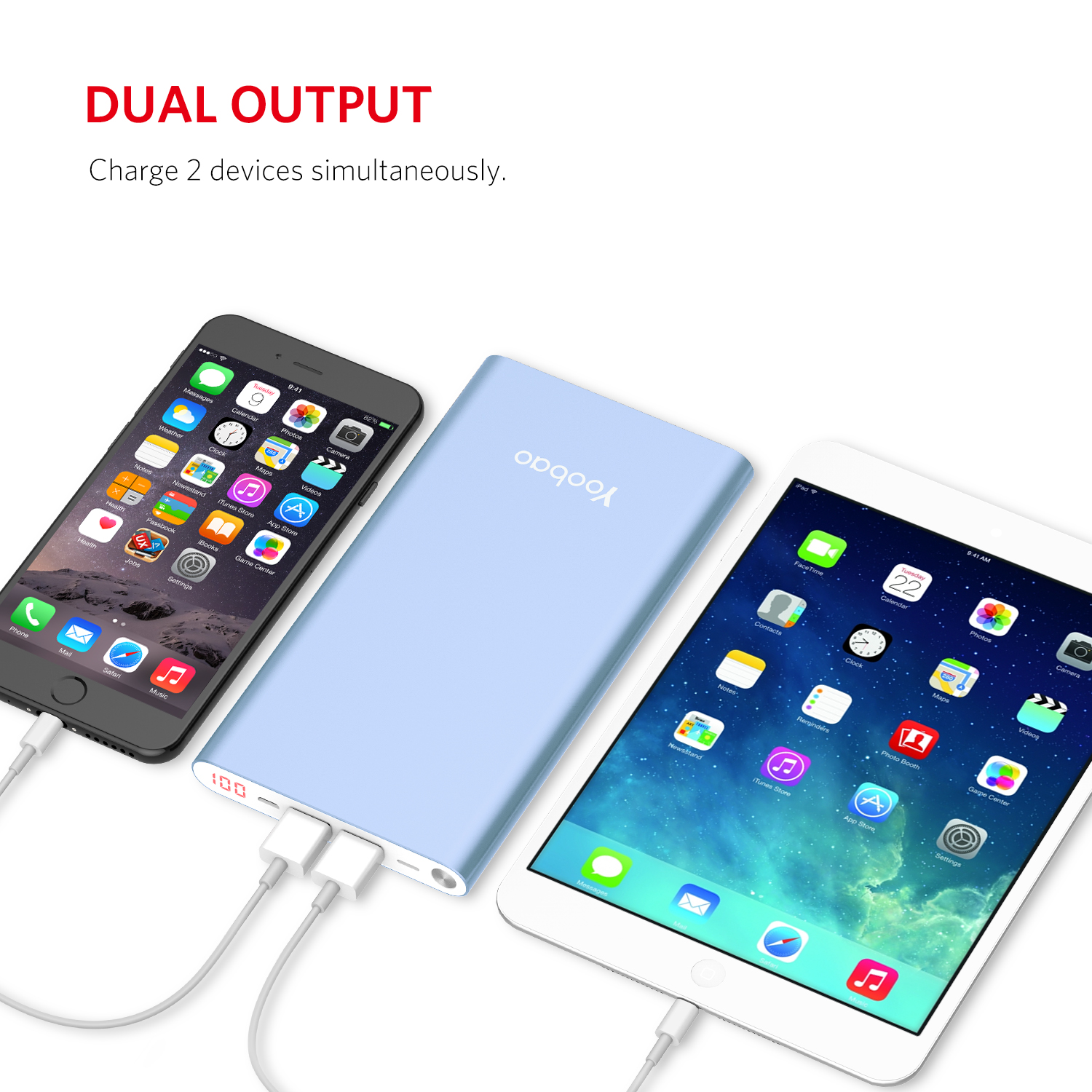 Yoobao A2 Power Bank 14.5mm Ultra Slim 20000mAh powerbank Dual Output/Input External Battery with Digital Display
