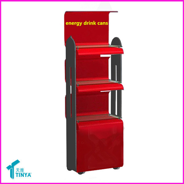 Wholesale 3-tier Deluxe Display Cabinet Showcase Glass Bottles Display Floor Stand Whiskey Displays Acrylic Wine Display Rack