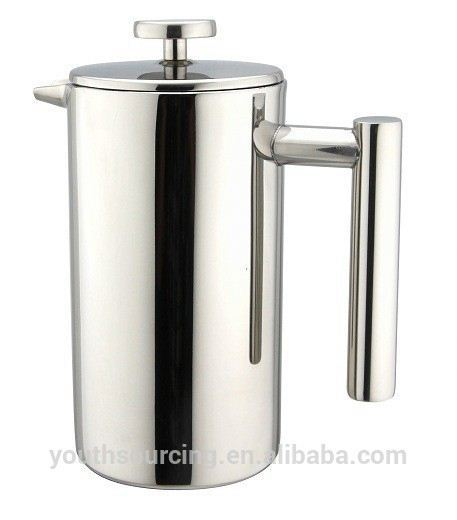 double wall insulated stainless steel aero coffee press