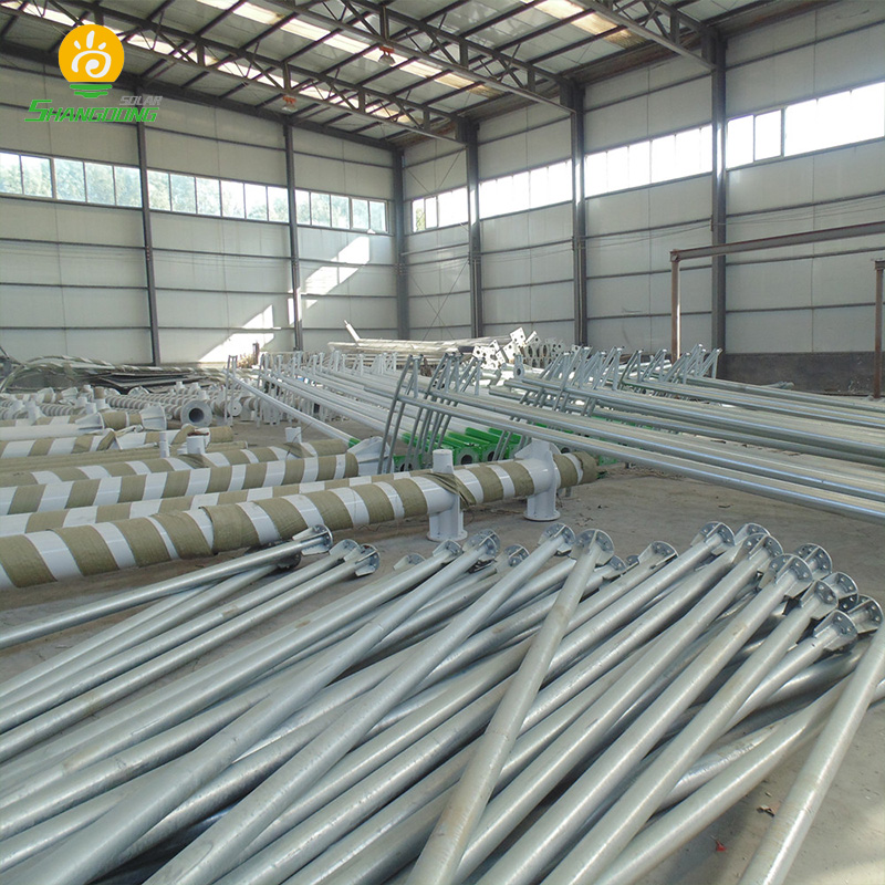 China's good quality Galvanized Q235 hot dip 2m to 30m outdoor street lighting pole Price