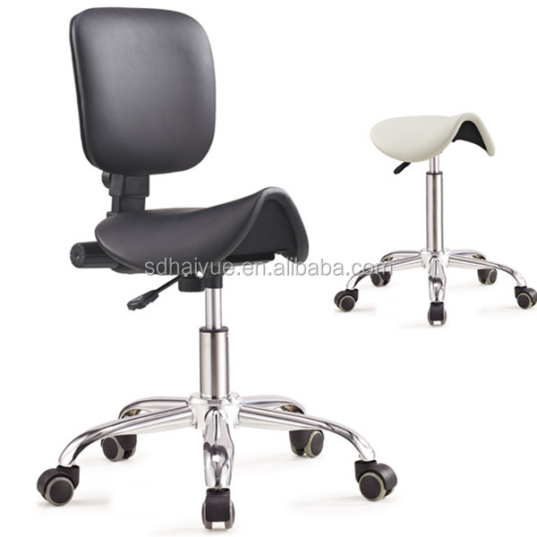 HY1037-4 Haiyue Dental Mobile Chair Surgical Nurse's Doctor Stool With Backrest PU Leather