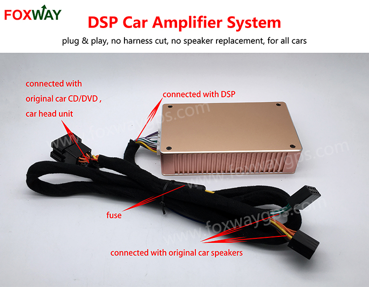 D31 Plug & Play Big Power Dsp Car Amplifier Smart Audio Control System  45w*4,No Harness Cut,No Speaker Replacement,All Cars - Buy Car  Amplifier,Dsp