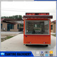 Stainless steel catering bus/Mobile street dining car with LED lights