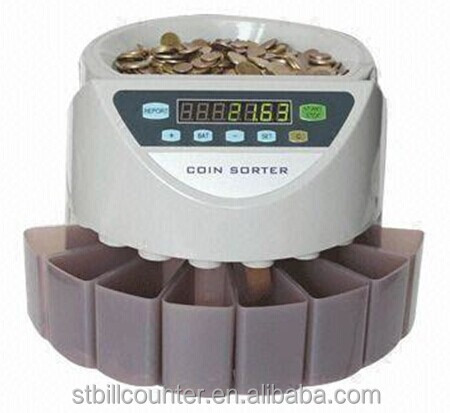 Intelligent C550A Electronic Automatic Coin Sorter For Most Country Currency