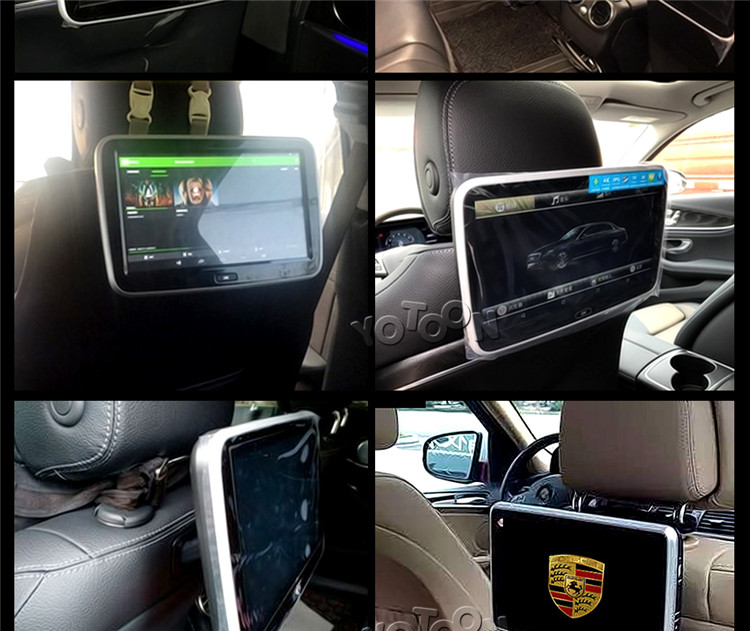 Car Headrest Monitor Android with WiFi/TF/USB 10.1 inch Universal for any Car