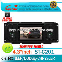 dvd player auto for Chrysler Serbing with GPS,WIFI,3G,TV,radio(AM/FM),RDS,bluetooth,phone book,20CDC, big key board,factory