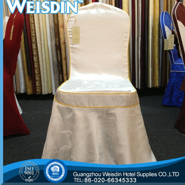 printed Guangzhou satin dinning chair slipcover