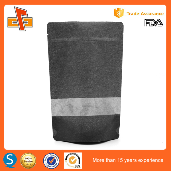 Food packaging industry of new products elegant black paper bag