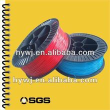 SGS test various colors PVC plastic filament used to make plastic spiral coil