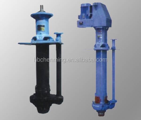Vertical sump lined mining pump for caustic liquid/bomba de lodo vertical