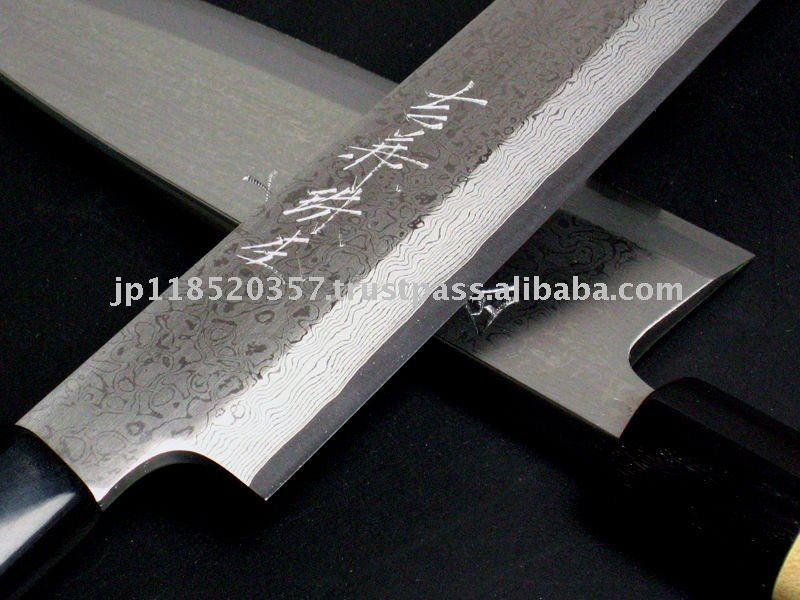 Yoshikane tamamoku 32 layer inoxidable acero damasco vg10 gyuto 270mm japon s cuchillo - Cuchillo de cocina acero damasco ...