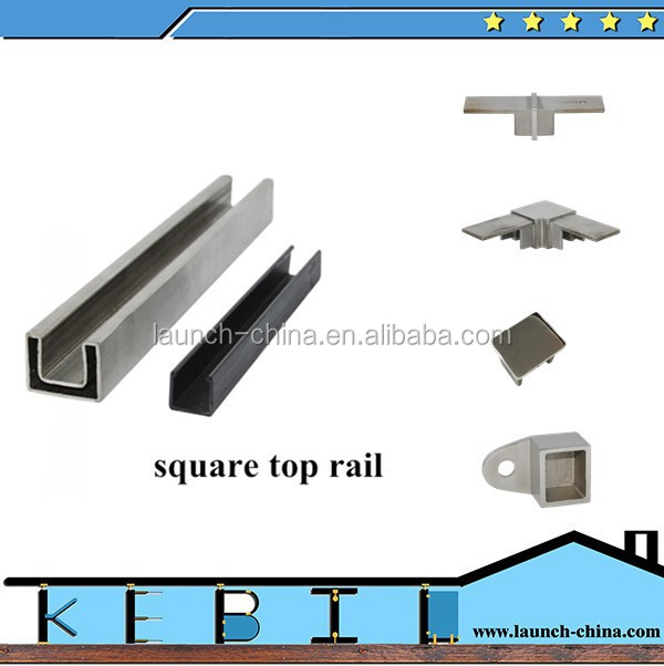 Laminated Safety Glass 1/2 Inch Balustrade Cap Rail U Channel ...