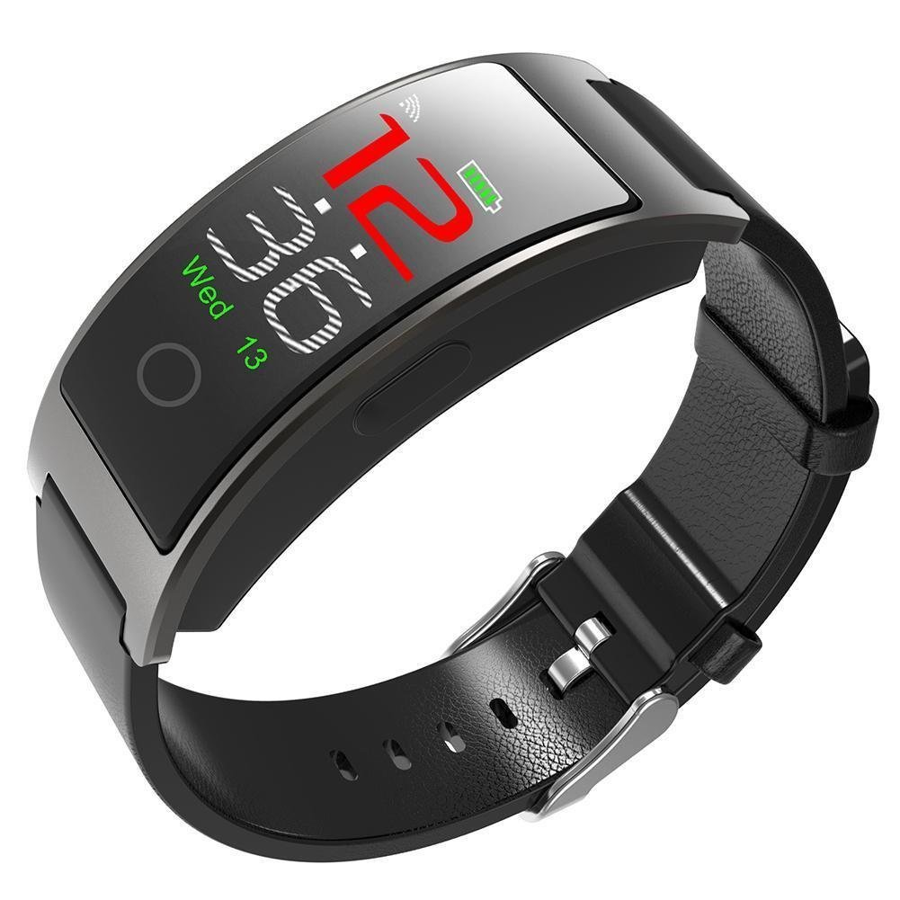 luckyruby CK11C Bluetooth 4.0 Smart Watch Bracelet Blood Pressure Tracker IP67 Waterproof Full Touch Color LCD Smart Bracelet Pedometer Wristband for iOS & Android