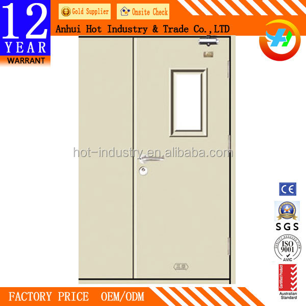 China security cheap emergency exit fire rated door /fireproof door