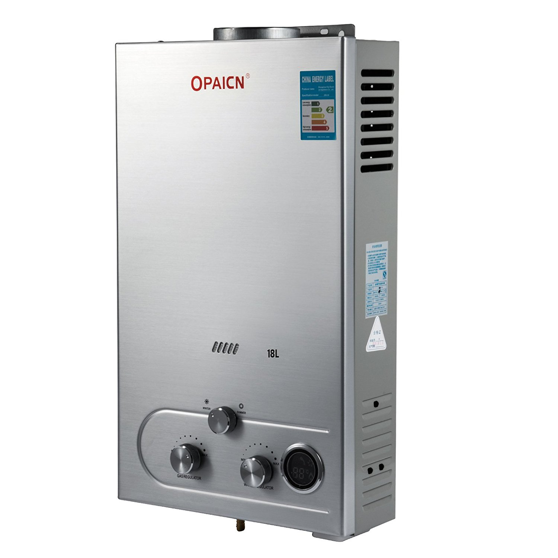 Happybuy Propane 18L Gas LPG Tankless Instant Hot Water Heater Boiler 36KW 4.8GPM Water Heater Liquefied Petroleum Gas Water Heater (18L LPG)