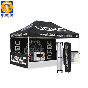 Custom camping canopy roof top tent display advertising folding tent