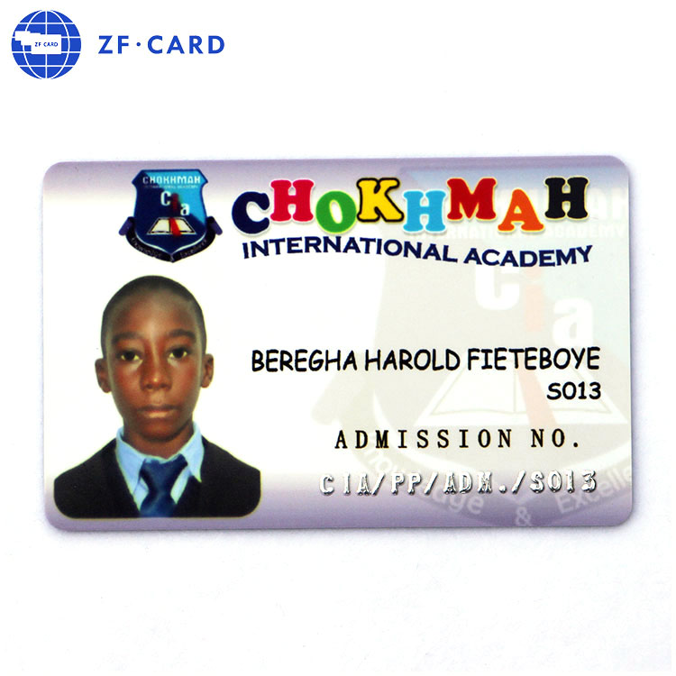 Low cost price School PVC printing identity card for identity card printer with best after sale service