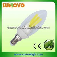 free samples 3w 380lm Epistar e14 transparency filament led candle lamp