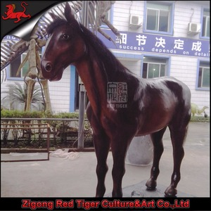 hot sale artificial life size resin animals horse for sale