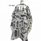 Cheap unisex waterproof custom printing Hairdressing Barber design Hair cutting cape