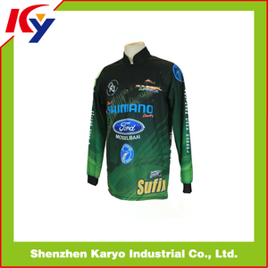 Bass Fishing Clothing Sublimated Mens Fishing Jerseys