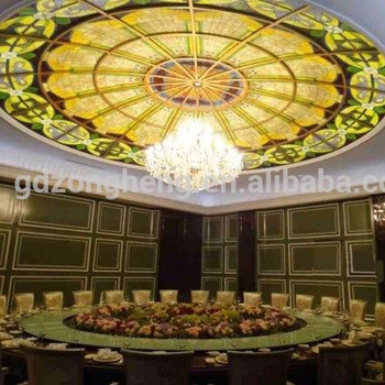 Clical Church Ceiling Dome Recessed Design Translucent Stained Gl Vault Skylight Factory Price Per
