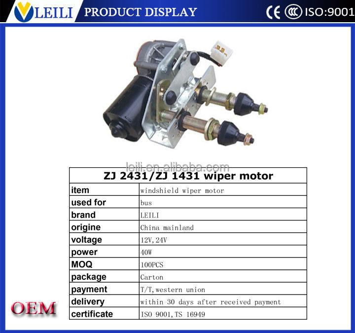 24v 12v Dc Motor Windshield Wiper Motor Specification(with Bracket ...