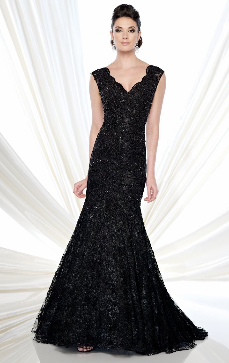 8e0ed153816 Get Quotations · Free Shipping Mermaid Prom Dresses Appliques Black plus  size mother of the bride lace dresses groom