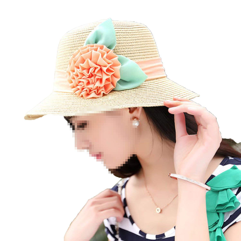 a4a2d431f1a59 Attack Summer Straw Hat Flower Folding Sun Visor Big Hat