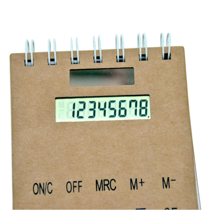 Promotion Office and School Gift Solar Notebook Calculator with 8 Digits