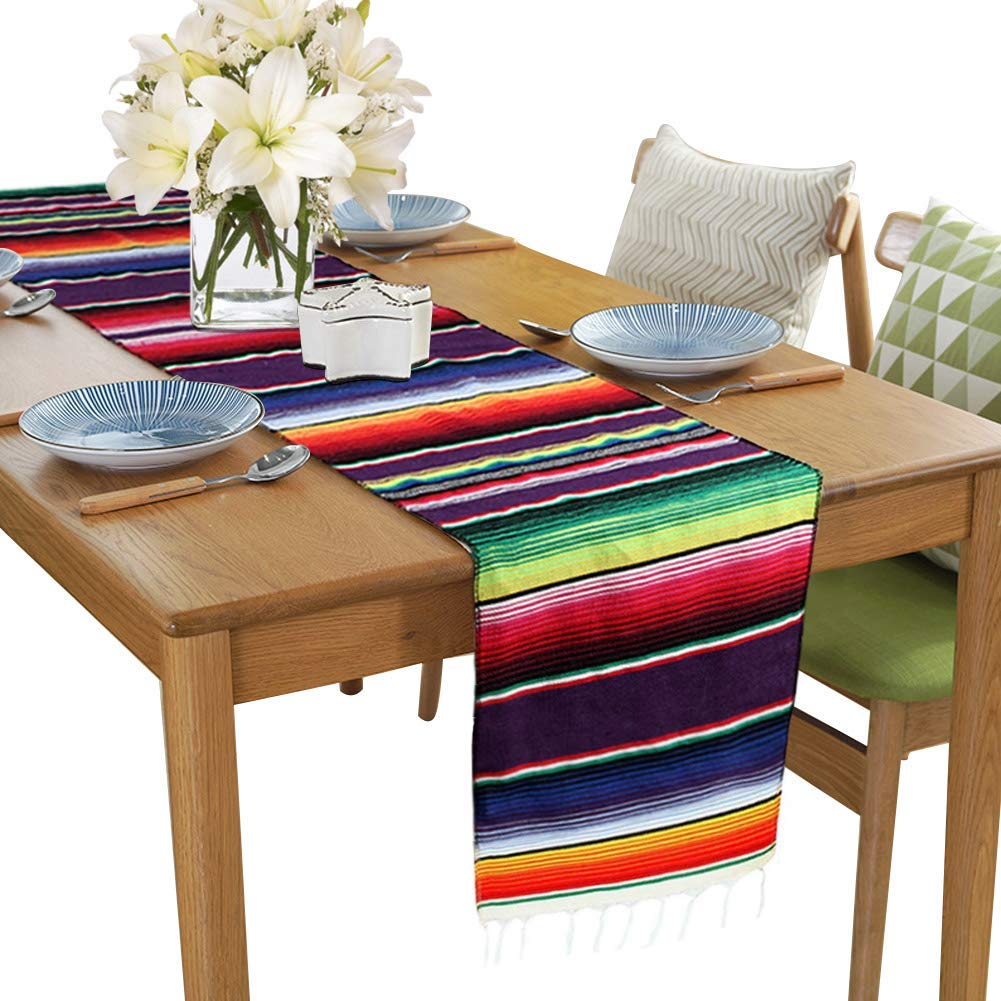 Get Quotations Hokic 14 X 84 Inch Mexican Table Runner For Party Wedding Decorations Fringe