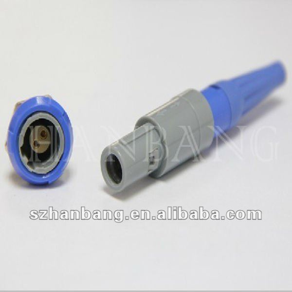 plastic LEMO compatible PAG M0 2 pin medical connector
