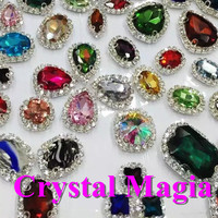 2016 loose high quality metal claw rhinestone sew on resin sewing crystal beads