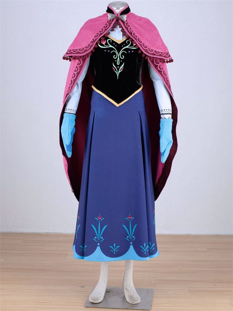 adult anna cosplay dress for halloween women frozen princess elsa costume - Halloween Anna Costume