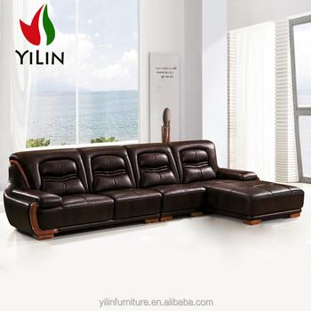 New Style Modern Corner Leather Sofa Designs Drawing Room Sofa Set