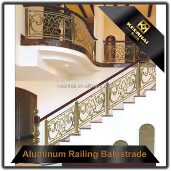 Interior Decorative Railing Design Brass Stair Handrails