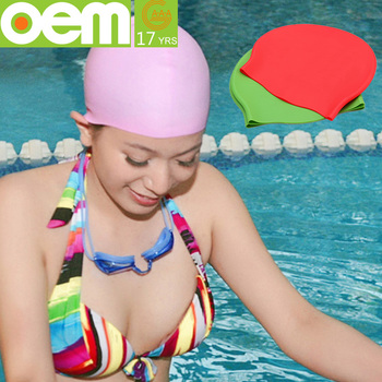 877363666a0 Custom Colorful Nude Silicone Swim Cap For Long Hair - Buy ...