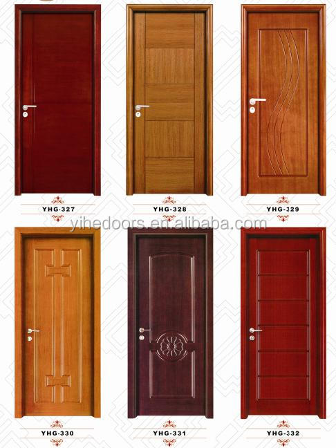 Bedroom door design mdf solid oak wood simple solid teak for Simple wooden front door designs