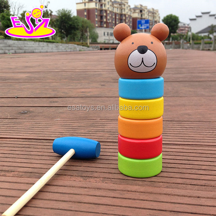 2016 wholesale fashion children musical wooden toy bear W11G030