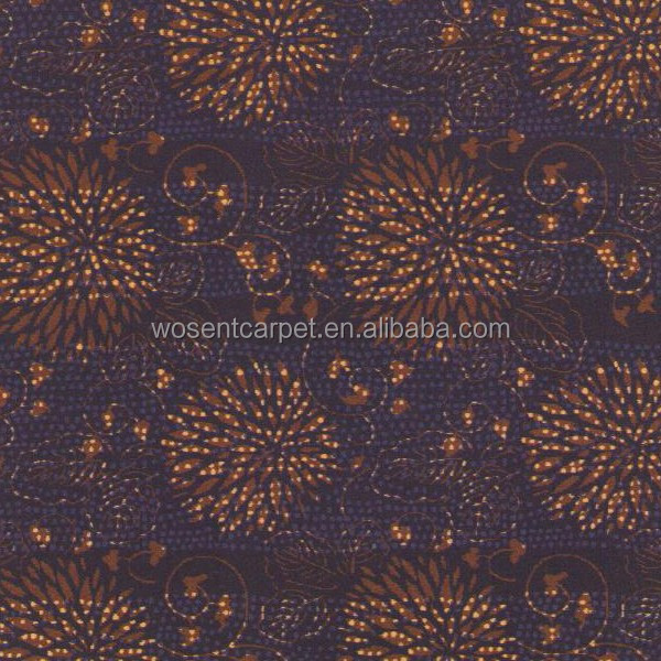 Floral design wall to wall commercial axminster carpet for Floral pattern wall to wall carpet