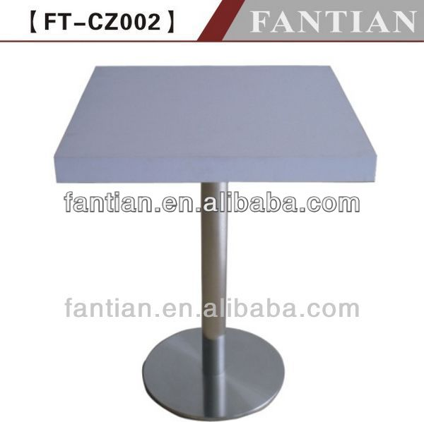hot sale white square metal base dining table in furniture