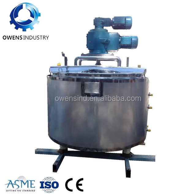 ASME 300 gallon factory salescosmetic machine equipment/industrial pressure cooker mixing tank