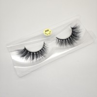 High quality crossing double layered 100% handmade 3d mink strip eyelash custom eyelash package lashes vendor