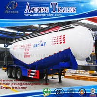 2016 new bulk cement silo tanker truck trailer/ bulk cement tank semi-trailer for sale