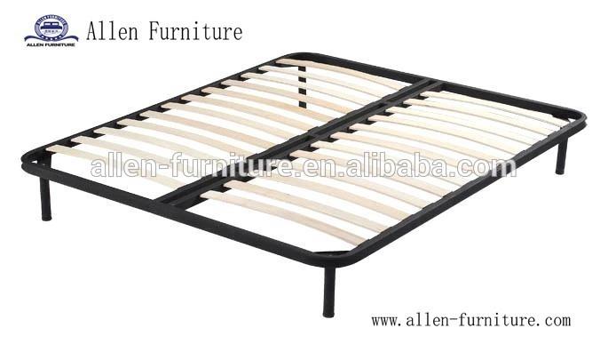 wooden slat bed frame 8 legs king